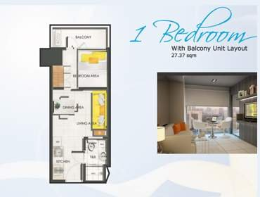 One Bedroom Unit with Balcony